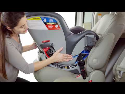 Chicco NextFit - Installing with LATCH: Rear-facing