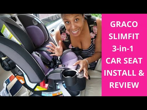 Graco SlimFit 3-in-1 Convertible Car Seat Installation & Review
