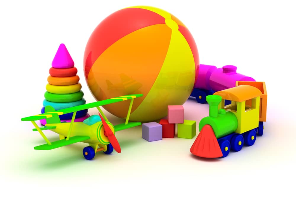 Plane, Train, Pyramin and Ball for Babies